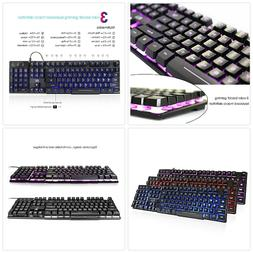Multimedia PC Gaming Wired Keyboard LED Backlit Mechanical F