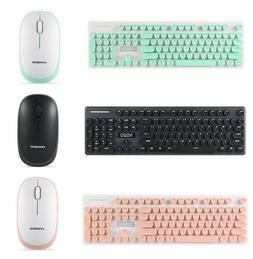New N520 Hand Punk Mechanical Wireless Keyboard Mouse Set wi