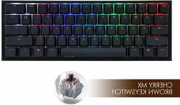 Ducky One 2 Mini Mechanical Keyboard RGB 60% Double Shot PBT