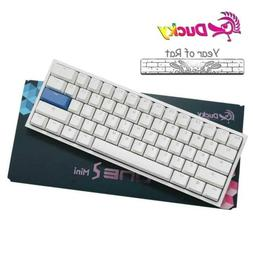 Ducky One 2 Mini White Mechanical Keyboard RGB PBT Cherry MX
