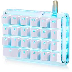 Koolertron One Handed Macro Mechanical Keyboard, Portable Mi