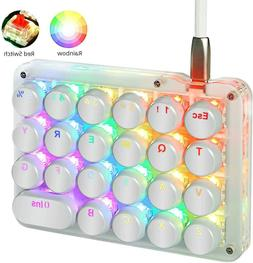 Koolertron One Handed Macro Mechanical Keyboard, RGB LED Bac