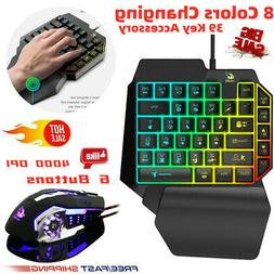 One-Handed Mechanical Keyboard Left Hand Game Keypad for Gam