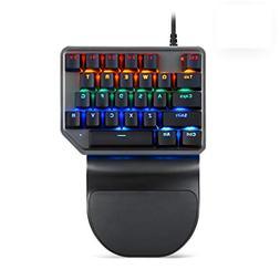 MOTOSPEED One-handed Mechanical Mini Gaming Keypad 27 keys,
