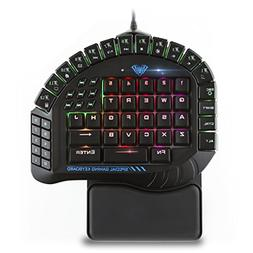 One Handed Merchanical Gaming Keyboard 30 Progammable Keys R