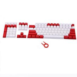 PBT Keycaps Backlit 108Key Set Doubleshot Translucent Cherry