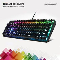 TECWARE Phantom 104 Mechanical Keyboard, RGB LED, Outemu Red