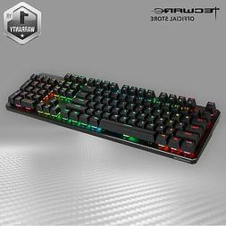 Tecware Phantom RGB 104-Key Gaming Mechanical Keyboard Blue