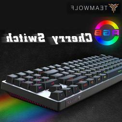 Portable Gaming Mechanical Keyboards Side Text Glow Keycaps