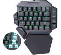 Portable Wired Gaming Keypad Blue Switch Mechanical Keyboard