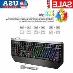Pro LESHP USB Wired Game Gaming Office Mechanical Keyboard W