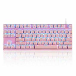 professional gaming mechanical keyboard pink keyboard red
