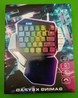 Skywin Programmable Gaming Keypad - Ergonomic One Handed RGB