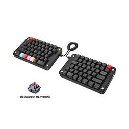 Koolertron Programmable Split Mechanical Keyboard with Cherr