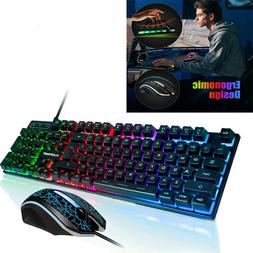PS4 Keyboard Mechanical And Mouse Combo Gaming Led Set Plays