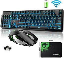 Rechargeable Keyboard and Mouse Mechanical Feel Backlit Gami