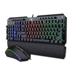 Redragon K555-RGB-BA Mechanical Gaming Keyboard and Mouse Co