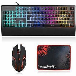 RGB Backlit Gaming Keyboard And Mouse Combo,BlueFinger USB W