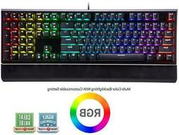 ROSEWILL Mechanical Gaming Keyboard, RGB Backlit Clicky Comp