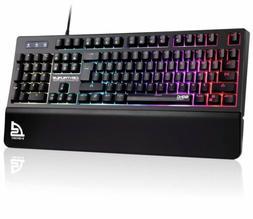 SIGNO RGB Gaming Keyboard USB Wired Keyboard with Wrist Rest