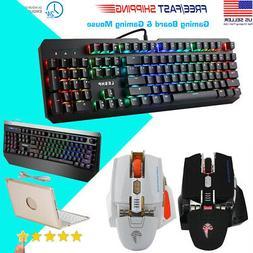 RGB LED 104 Keys Wired Backlit Mechanical Gaming Keyboard Ke