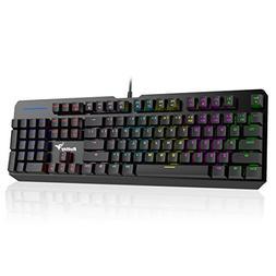 RGB Mechanical Keyboard, Rottay 16.8 Million RGB Backlit Wir