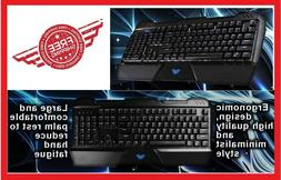 RGB Mechanical Wired Gaming Keyboard w/ Blue Switch 104 Keys