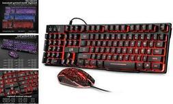 Rii Gaming Keyboard and Mouse Set, 3-LED Backlit Mechanical