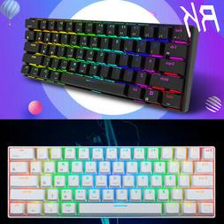 RK61 Bluetooth+USB Ergonomic RGB Backlight Mechanical Gaming