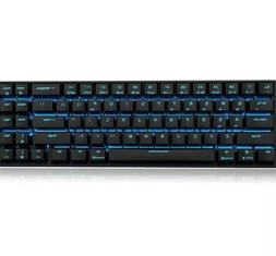 rk71 mechanical keyboard 71 keys blue backlit