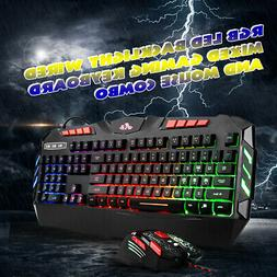 Rii RK900+ RGB LED Backlight Wired Mixed 104 Keys Gaming Key