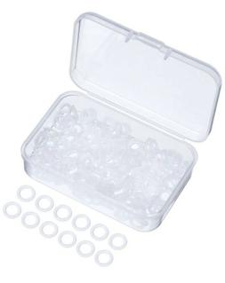 Sumind 200 Pieces Rubber Rings Clear Seal O-Ring Rubber Keyb