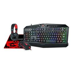 Redragon S101-BA Gaming Mouse, Keyboard, Headset with Microp