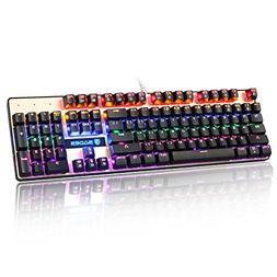 Sades K10 USB Wired Mechanical Gaming Keyboard Colorful LED