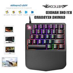 FELICON Single-Handed Mechanical Feel Gaming Keyboard K11 Wi