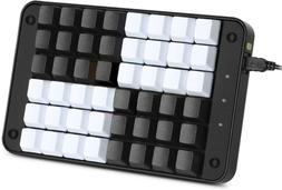 Koolertron Single-Handed Programmable Mechanical Keyboard wi