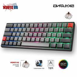 SK64 GK64 Mechanical Keyboard RGB PBT Caps Hot Swap Gateron