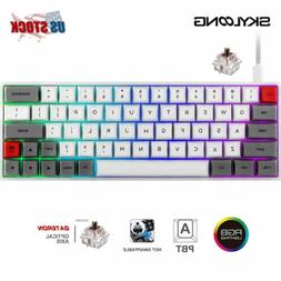 SK64 GK64 RGB Mechanical Gaming Keyboard PBT Hot Swappable G