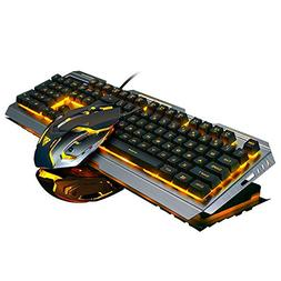 ZKxl8ca Stylish LED Backlit USB Wired Mechanical Gaming Keyb