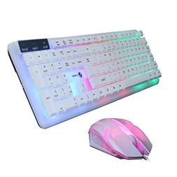 HiGOGO T11 Wired Gaming Keyboard Mouse Set, Colorful LED Ill