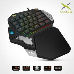 Delux® T9X Single-handed Mechanical Gaming Keypad Fully Pro