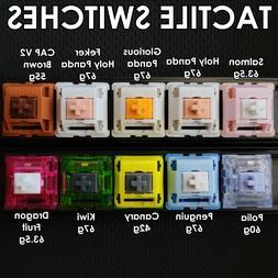 TACTILE Mechanical Keyboard Switch SAMPLE PACK Holy Panda, K