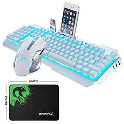 LexonElec@ Technology Keyboard Mouse Combo Gamer Wired Sky B
