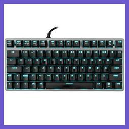 Tenkeyless Mechanical Keyboard Mini 78 Key Compact Ergonomic