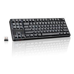 VELOCIFIRE TKL02 Wireless 87 Key Mechanical Keyboard with Ta