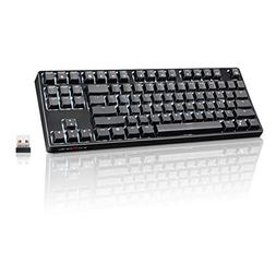VELOCIFIRE TKL02 Wireless 87 Key Mechanical Keyboard with Br