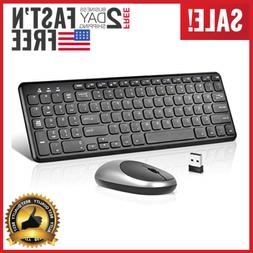 Ultra Slim Wireless Keyboard Mouse Set w/ Scissor Mechanism
