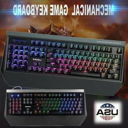 US 104 Key USB Wired Mechanical 6 Backlight Gaming Keyboard