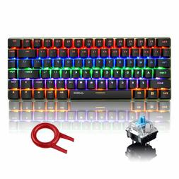 US AK33 Wired Mechanical Keyboard Rainbow RGB Backlight Gami