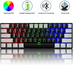 US Gaming Mechanical Keyboard RK61 Wireless Bluetooth LED Ba